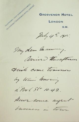 Letter 87002   Hertfordshire Archives & Local Studies