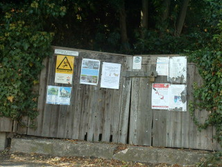 posters on a gate | By Richard Tregoning