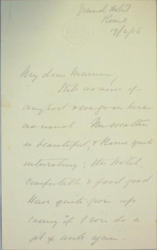 The Letters of Arthur Martin-Leake February 1916