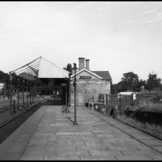 Abbey Station, St Albans, the eastern terminus of the line, in August 1964. The buildings were demolished in the 1970s. | © St Albans Museums