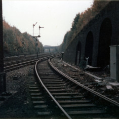 Looking back to the south as the Nickey line branches away from the Midland main line in Harpenden. | Lent by Ken Allen.