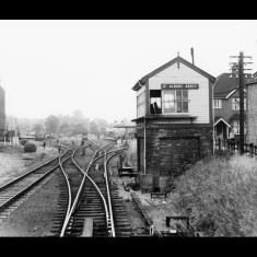 Passing the LNWR's signal box at St Albans Abbey Station. | © T A Murphy, given by Stephen Castle