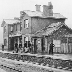 London Road Station, St Albans, and its staff soon after opening in 1865 - the museum's earliest station view. Milk was an important perishable freight. | © St Albans Museums