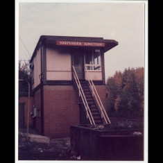 Harpenden Junction signal box, where the Nickey leaves the main line in Harpenden. | Lent by Keith Allen