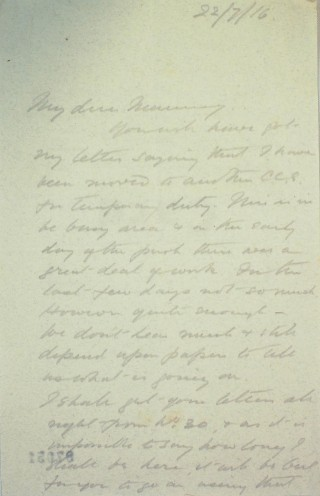 The Letters of Arthur Martin-Leake July 1916