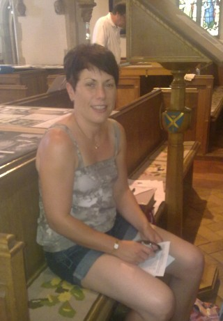 Julie Cooper at St Ippolyts Church on 'Three Parishes Discovery Day', 10 July 2010 | Fiona MacDonald