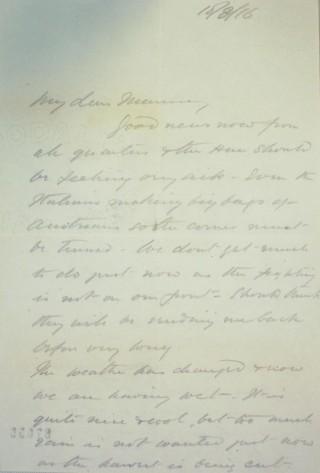 The Letters of Arthur Martin-Leake August 1916