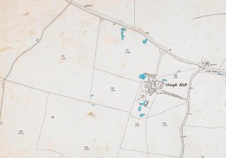 Ordnance Survey Map 1898 showing Shingle Hall and field 792 (large field to the left of Shingle Hall). | Hertfordshire Archives and Local Studies