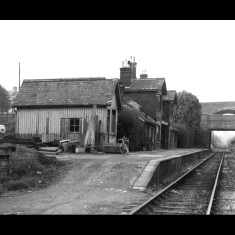 London Road Station, St Albans, in the 1950s, looking towards Hatfield beneath the London Road and Midland Railway Bridges. | © St Albans Museums; given by Watford Museum