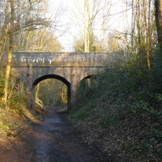 The trackbed passes beneath Ambrose Lane Bridge, Harpenden. February 2010. | © St Albans Museums