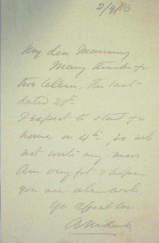 The Letters of Arthur Martin-Leake September 1916