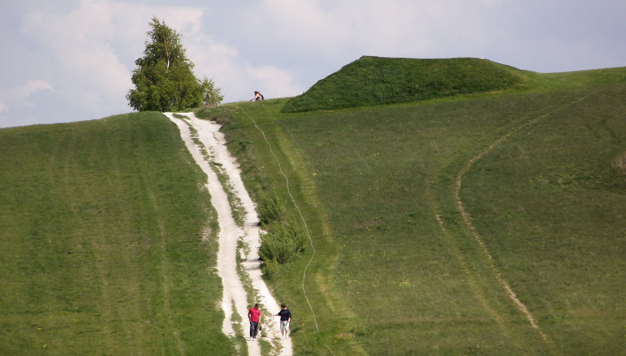 Looking back up the hill after a walk from the car park | © Richard Brockbank 2009