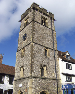 The Clock Tower, built between 1403 and 1412, and the only medieval example in the country. | by Richard Brockbank
