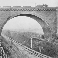 The new Midland Railway crossing over the St Albans - Hatfield Railway at London Road Station, St Albans, shortly after opening in 1868. The branch line was only three years older. | © St Albans Museums