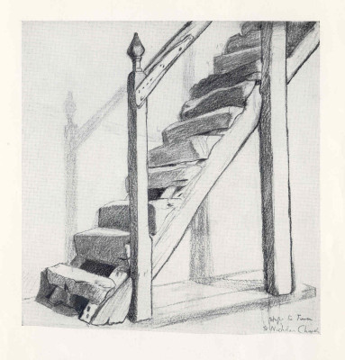 12th Century steps to the Belfry at St Nicholas Church | Miss Mabel Culley