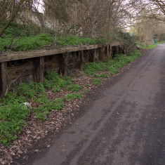 Sanders' Orchid Nursery siding, near Camp Road, March 2010. A timber goods and coaling platform still standing though well over 60 years old. | © St Albans Museums