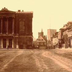 Town Hall and Market Place about 1885