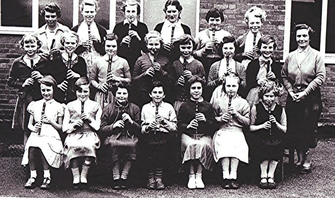 Girls School Recorder Class   Geoff Webb