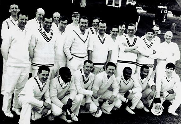 Cricket Club v. Tottenham Hotspur F.C. X1, c.1968 | Geoff Webb
