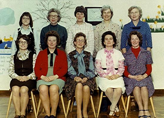 Infant School Staff. 1978 | Geoff Webb