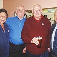 Left to right: Doug Ratcliffe, Mick & 'Jippy' O'Hara, Maurice Webb   Geoff Webb