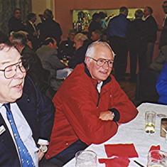 Left to right: John Saunders, Cliff Hill, Gordon Field   Geoff Webb