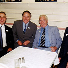 Two sets of twins, left to right: Ivor and Ellis Webb and Ron and Vic Henry   Geoff Webb