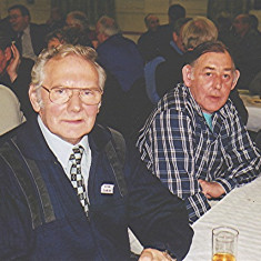 Brian Cheiza (left) and John Bower   Geoff Webb