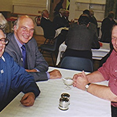Left to right: Colin Smith (to the rear), John Boden, David Axtell, Roy Flitton   Geoff Webb