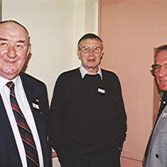Left to right: Ken Bolt, Jim Burrows, Jim Hales   Geoff Webb