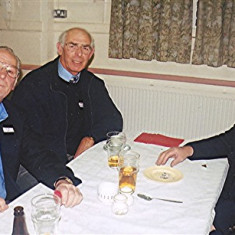 Left to right: Mick Day, Bob Palmer, Terry Day | Geoff Webb