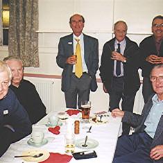 Left to right: Arthur Winch, Barry Millington, Steven and George Murphy, Derek Miles, John Dew (front)   Geoff Webb