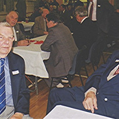 Colin Smith (left) and Charlie Collett   Geoff Webb