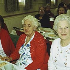 Left to right: Mollie Powell, Freda Brewer, Joan Norris | Geoff Webb
