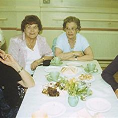 Left to right: Beryl Hedges, Dorothy and Iris Brett, Janet Rough | Geoff Webb