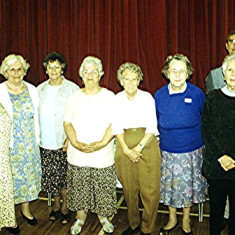 Helpers at the reunion, Left to right: Doris Elsden, Olive and Betty Peacock, Ruth Tingey, Muriel Draper, Doris Pacey, Stella Coote, Geoff Webb | Geoff Webb