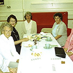 Left to right: Freda Coote, Muriel Draper, Betty Benn, Edna and Betty Peacock, May Halsey, Stella Coote | Geoff Webb