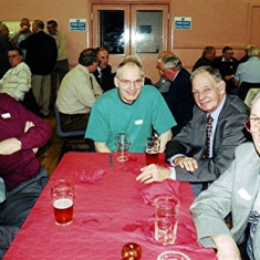 Left to right: Roger May, Fred Woodstock, Bob and Dennis Winch, Eric Neville | Geoff Webb