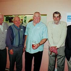 Left to right: James 'Jippy' O'Hara, Maurice Webb, Mick O'Hara, John Smith and Pat O'Connor | Geoff Webb