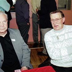 Barrie Millington (left) and Derek Bandy | Geoff Webb