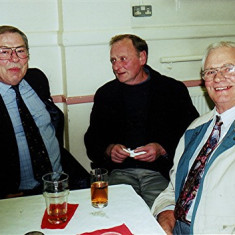 Left to right: John Saunders, Clifford Cootes, Clifford Hill | Geoff Webb