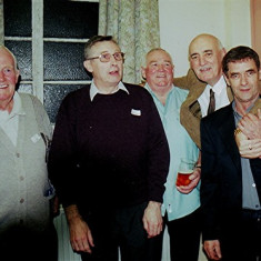 Left to right: James 'Jippy' O'Hara, Jim Burrows, Mick O'Hara, Mick Maguire and Mick Smith | Geoff Webb
