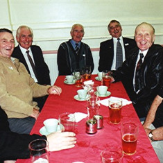 Left to right: Alan Paynter, Peter Allen, Vic and Ron Henry, Ivor Webb, Ken Hedges and George Braddon | Geoff Webb