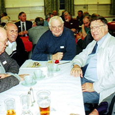Left to right: Peter Flitton, Peter Reading, Arthur Winch, Roy Fox and Terry O'Dell | Geoff Webb