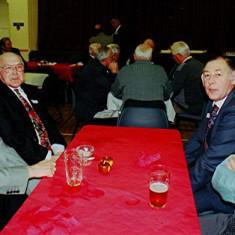 Left to right: Eric Neville, Horace Brett, John Bower and Roger May | Geoff Webb