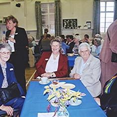 Left to right: Margaret Reek, Ellen Clarke (standing), Ann Flitton, Kath Smith, Gill Palmer and Betty Winch | Geoff Webb