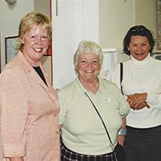 Left to right: Diane Sharp, Doris Elsden and Toni Rus | Geoff Webb
