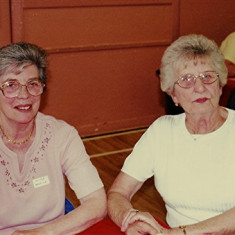 Valerie Herring (left) with Pam Ranscombe | Geoff Webb