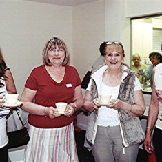 (Left to right): Pat Coates, Gill Winch, Monica Bigham, Eileen Bird | Geoff Webb