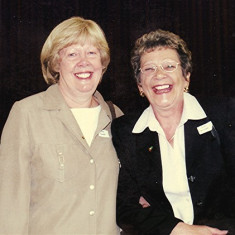 Diane Sharp (left) and Joan Mimer | Geoff Webb